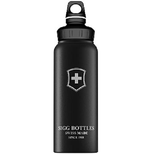 SIGG Water Bottle WMB Swiss Emblem Touch 1000ml [SIG100832510] - Black - Sport Water Bottle / Botol Minum